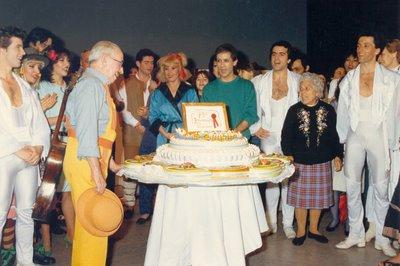Foto de Germana em aniversário do actor Eugénio Salvador
