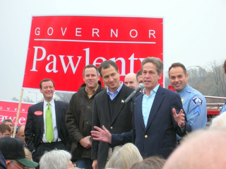 Sen. Norm Coleman, with Jeff Johnson, Vince Flynn, Mark Kennedy. (c) North Star Liberty.