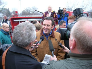 Tim Pawlenty at the Giuliani rally. (c) North Star Liberty