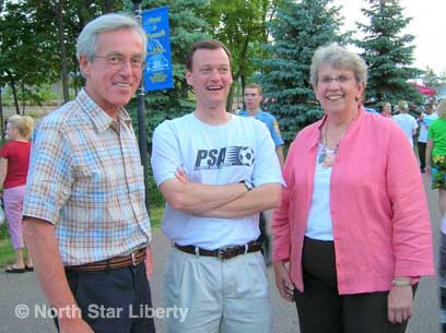 Rep. Steve Smith, Jeff Johnson, and Sen. Gen Olson (Photo: North Star Liberty)