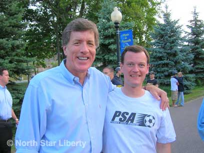 Rep. Jim Ramstad and Jeff Johnson (Photo: North Star Liberty