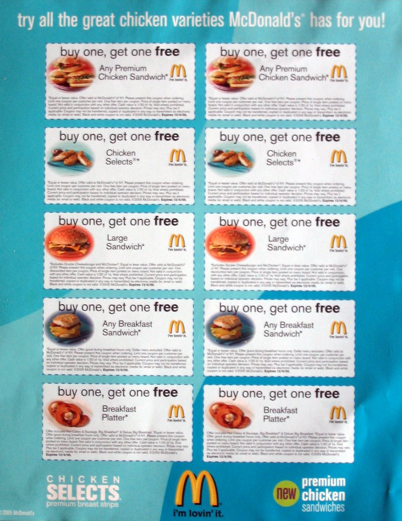 Mcdonalds coupons hamburg