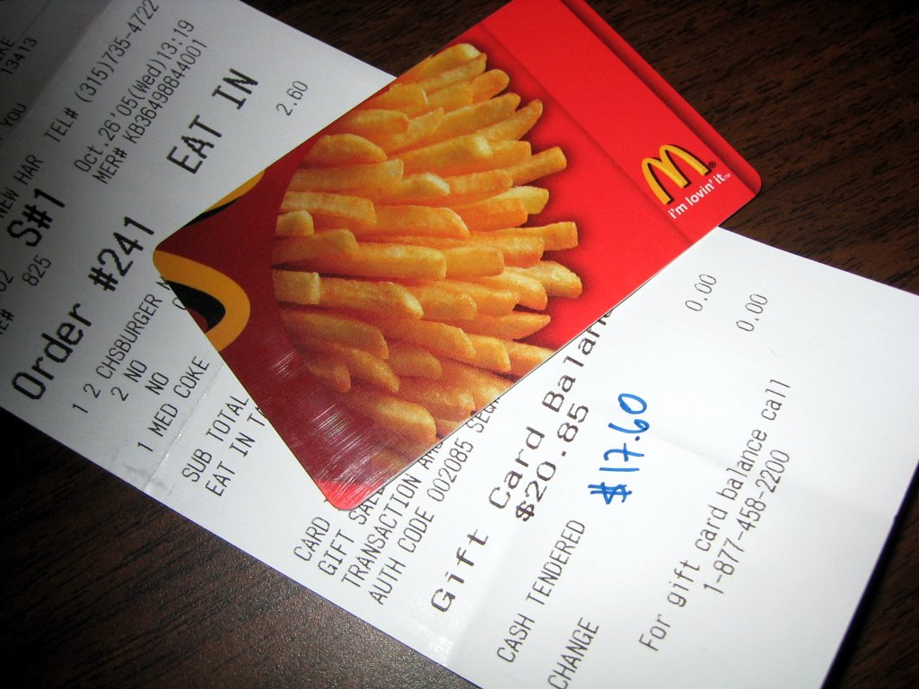 McChronicles: McDonald's Gift Card