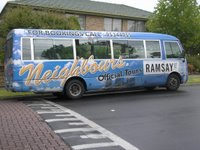 Official Neighbours tour bus