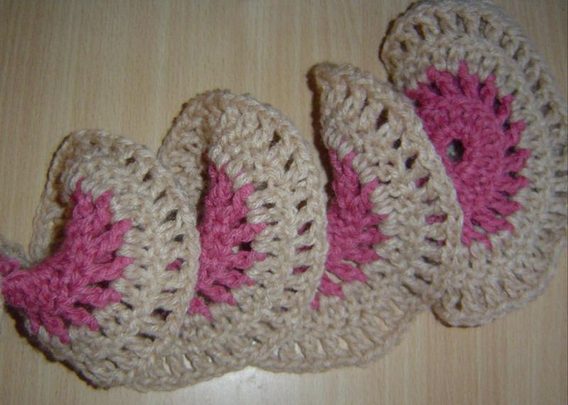 Bufanda resorte al crochet | Proyectos Artesanal