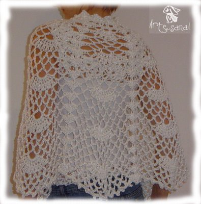 artesanal dise o en tejidos capa al crochet para novia