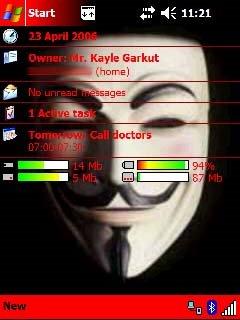 PDA Screenshot of V theme 1
