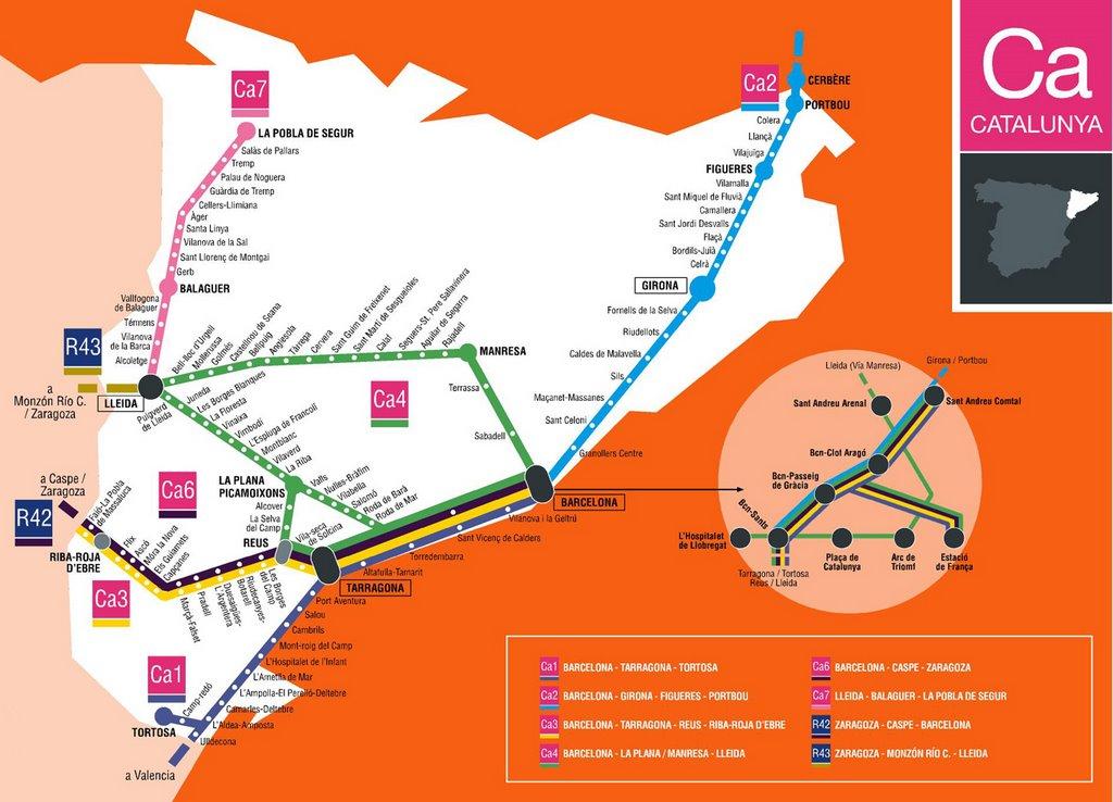 Железные дороги испании схема