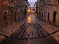Lisboa bajo la lluvia