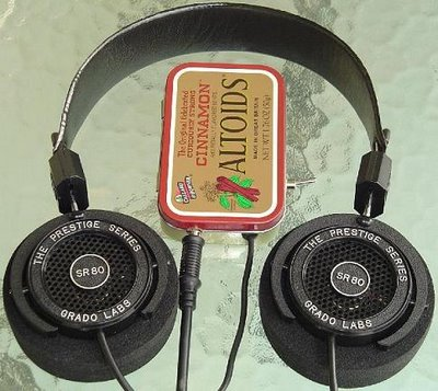 Grado SR80 Headphone and CMoy Amplifier