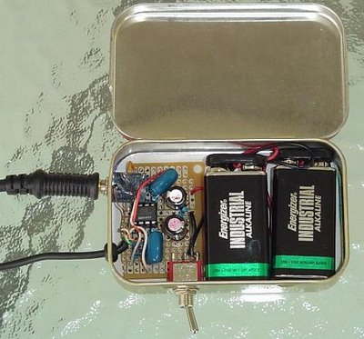 CMoy Headphone Amplifier in Altoids Mint Tin