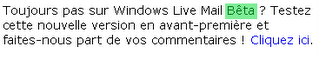 windows live mail bêta