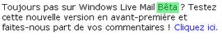 windows live mail bêta