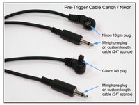 Pre-Trigger Cable for Canon or Nikon