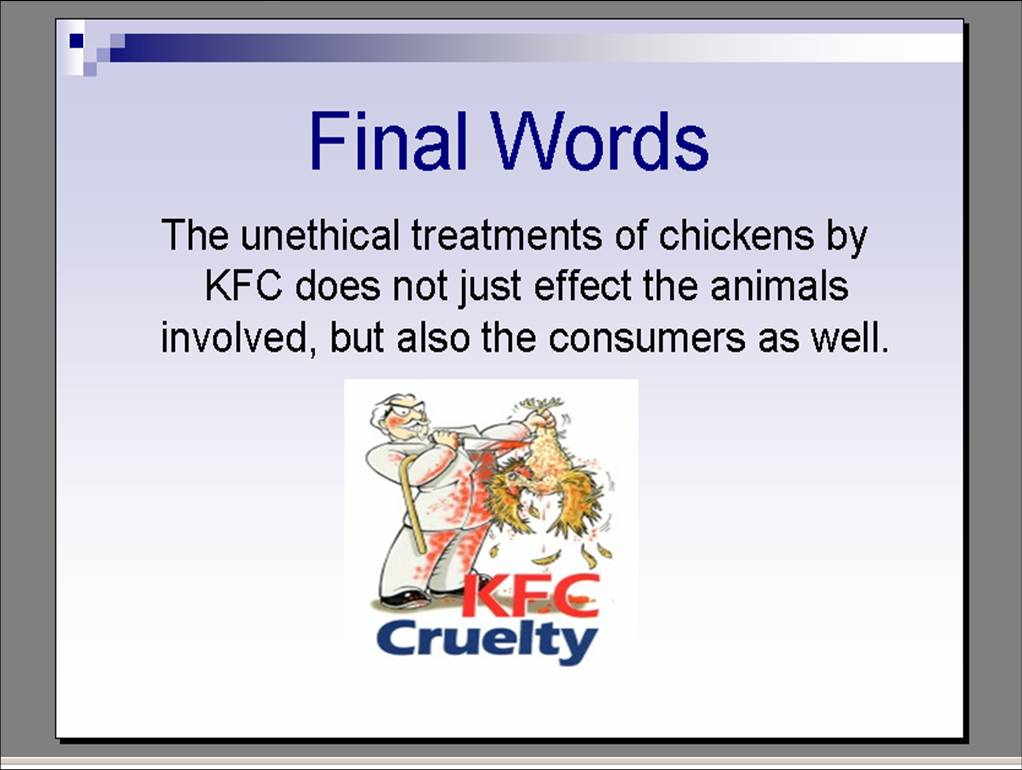 unethical practices in the food industry essay Understand business social responsibility and ethics in marketing, including   and 7) summary of unethical marketing practices that ruin companies  an  example would be fast food restaurants eliminating the use of.
