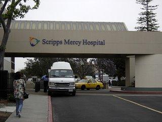 La externajo di la entrayo ad la hospitalo