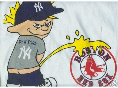 piss boston Yankees on