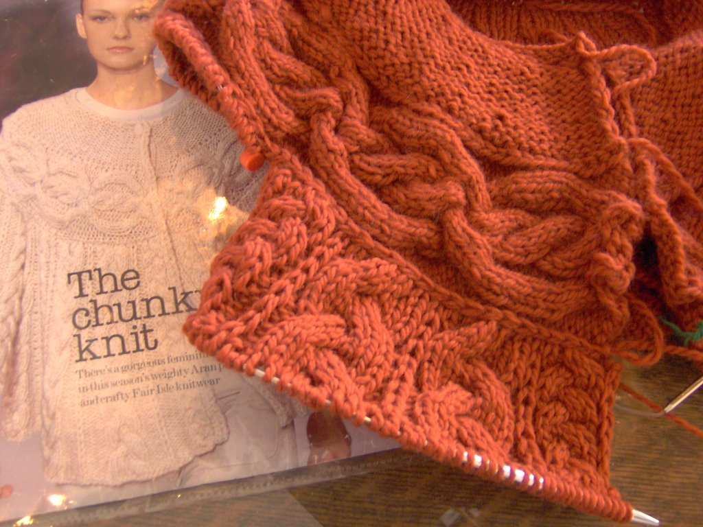 Miss Twiss: Knit In Chunks is Coming Along