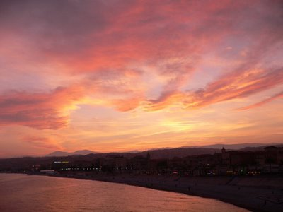 Sunset, Baie des Anges, Nice