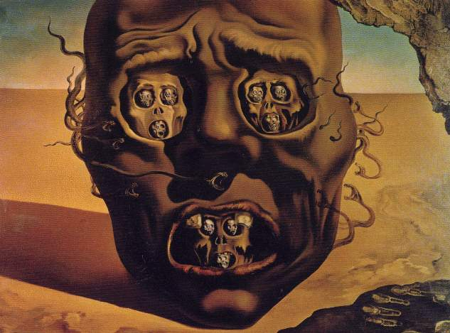 salvador dali the face of war essay Dalí the man a national resource introduction salvador dalí of exhibitionism encrusted in the flesh of her face' (fleur cowles, the case of salvador dalí.