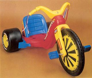 Big Wheel- light and easily stolen!