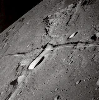 NASA Photo (It looks like a shaman on the moon to me.)