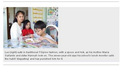 Pinoy Table Manners Punishable…HUH!!!???