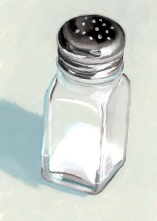 salt shaker daily pastel painting