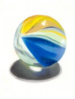 blue marble daily pastel painitng