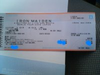 an IRON MAIDEN concert ticket
