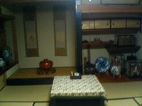 tokonoma - an alcove in a traditional Japanese room where art or flowers are displayed