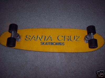 Here Is A Nice Yellow Example Description Was 1970s DogTown Era Santa Cruz Skateboard This Beautiful Piece Of Skateboarding History