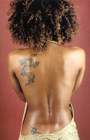 Celebrity Dragon Back Tattoos