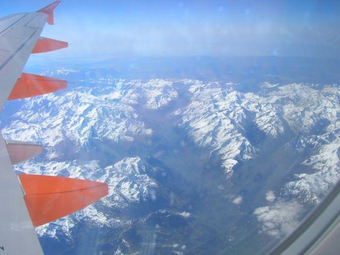 sobrevolando los Pirineos