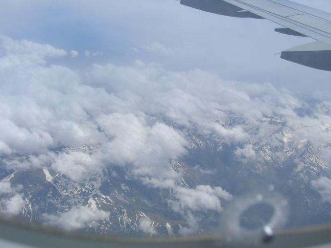 Sierra Nevada entre las nubes