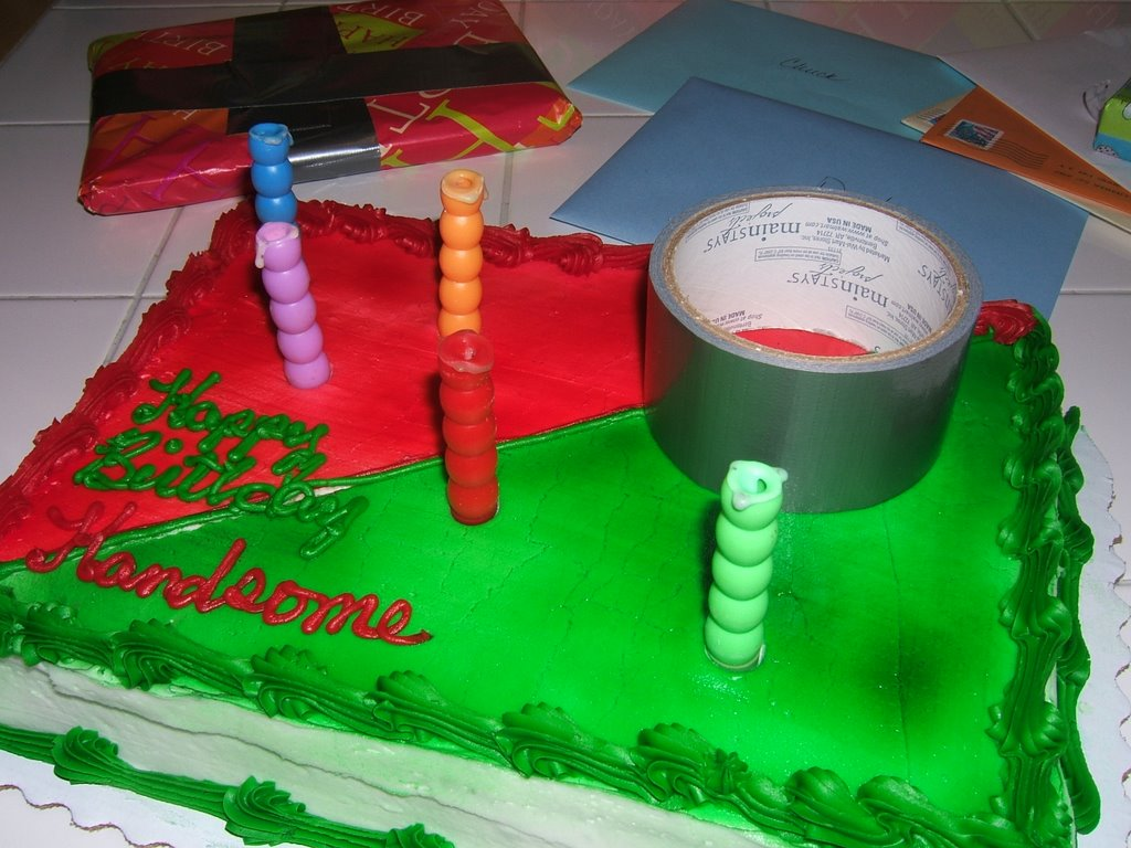 Creative Loafing Red Green Birthday Cake