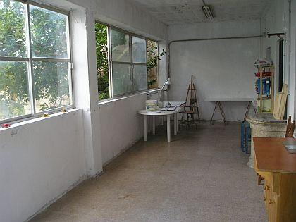 one section of my new painting studio