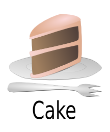 Clipart Slice Of Cake On A Plate : Humbliceous: Piece of Cake