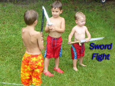 What little boys party is without swords?