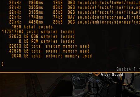 Quake 4 listsounds