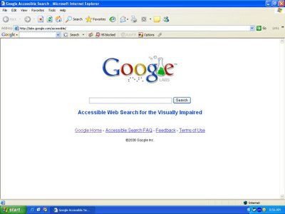 Image of Google website