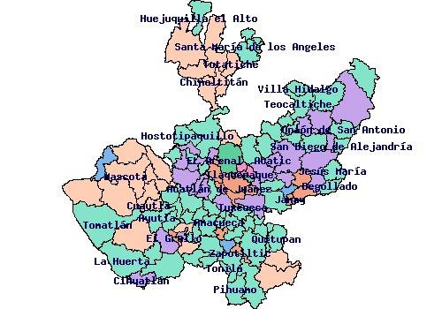 Geografia de jalisco for Villas que fundo nuno de guzman