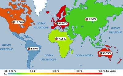 Estatísticas Mundiais de uso do Firefox