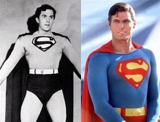 Kirk Alyn y Christopher Reeve, Supermanes del pasado.