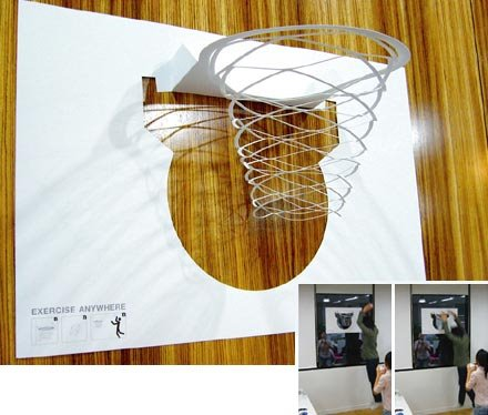 April 2006 awesome billboards and outdoor advertising - Basketball waste paper basket ...