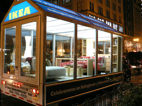 advertising lab ikea showcase on wheels