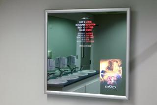 advertising on mirrors