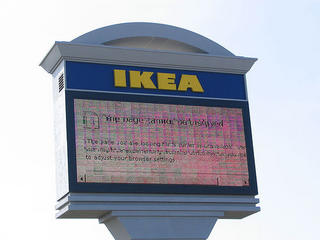 ikea billboard crashes