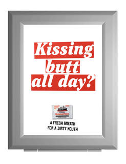 kissing butt outdoor poster billboard