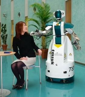 t63 artemis advertising cop robot